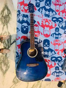 Brand new shining blue colour Guitar of very famous brand Granada.