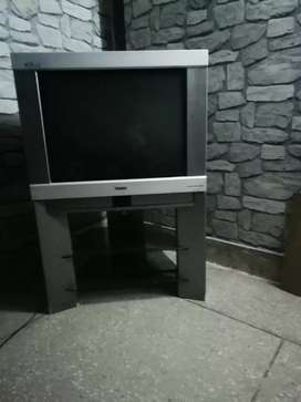 28 inch Haier Television with TV Trolly