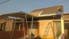 Kanopi gerasi atap spandek