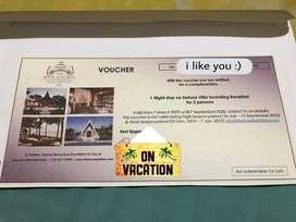 Compliment Hotel Voucher The Royal Santrian Bali