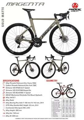Pacific Magenta 700c Roadbike
