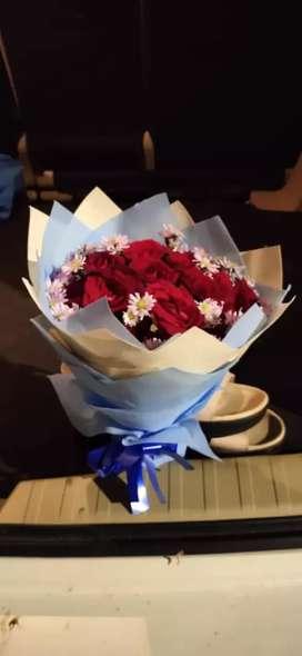 buket Bunga  mawar untuk pasangan / valentine
