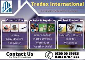 Try us for House Renovation, Paint Work, Rock Wall, Electrician Work