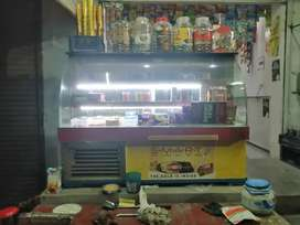4 feet lenth display fridge in good condition.