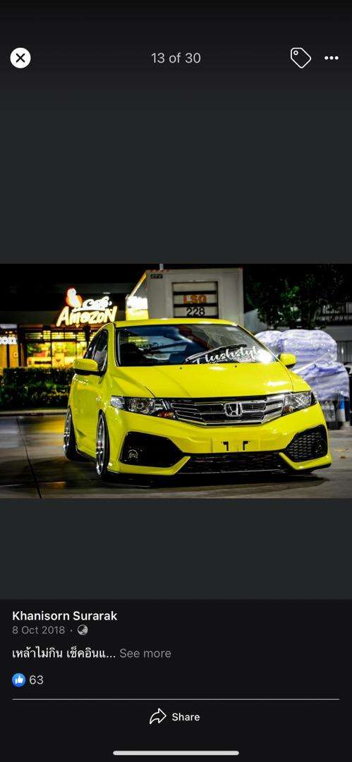Honda city type r front back bumpers with body kitts