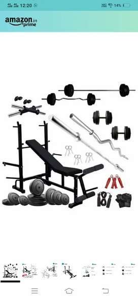 HASHTAG FITNESS 60 kg Home Gym Combo Kit