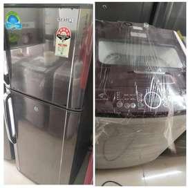 Double door fridge:-8500/- RS . Washing machine :- 6500/- RS