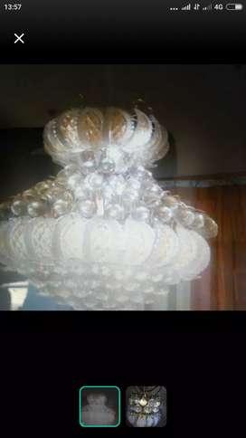 Lampu kristal asli besar sesuai foto
