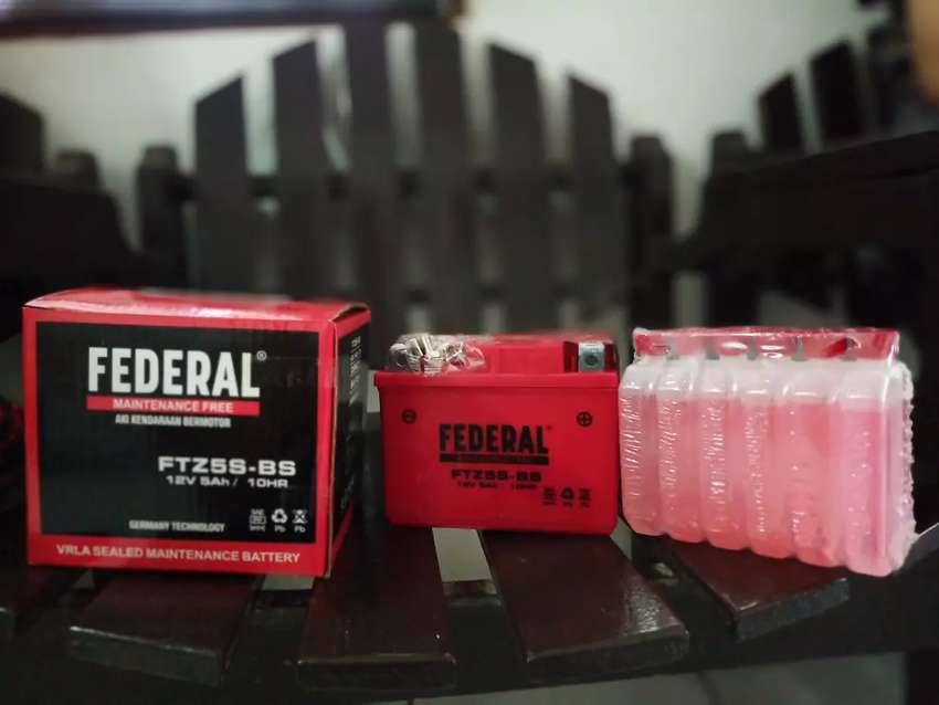 Aki Federal 5 Amper New dan Bergaransi 0