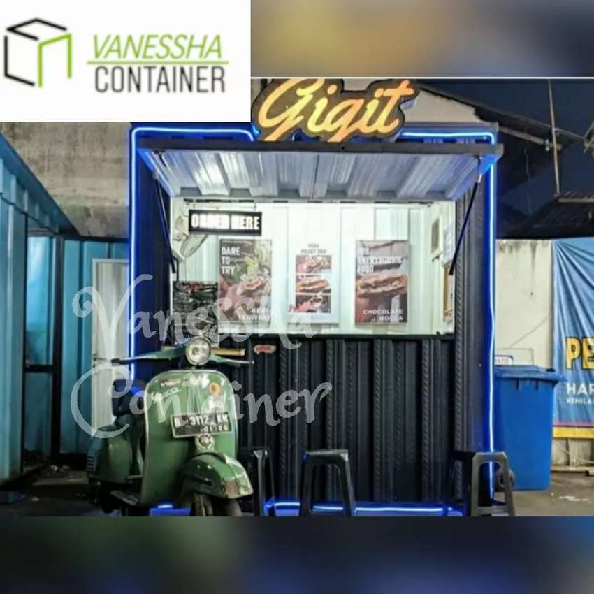 BOOTH SEMI CONTAINWR MURAH / CONTAINER CAFE MURAH / CONTAINER USAHA