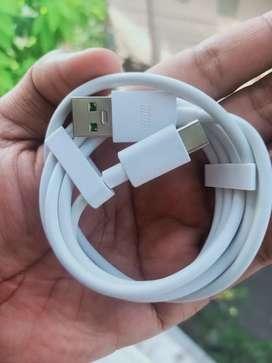 Kabel Data Oppo Tipe C 100%  Original Super Vooc ( Harga Pas )