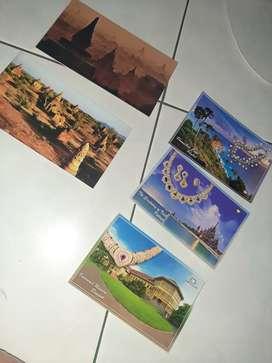 Kartu pos post card thailand myanmar souvenir oleh oleh koleksi