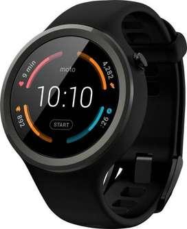 Motorola Moto 360 Sport Black Smartwatch Black and orange both avalble