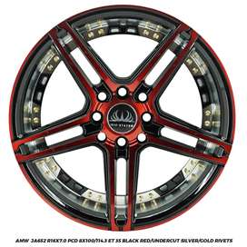 VELG RACING AMW JA652 R16x7.0 8x100-114,3 ET35 VELOZ LIVINA BRIO XENIA