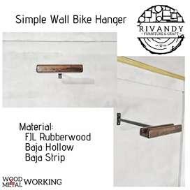 Simple Wall Bike Hanger