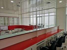 disewa office gold coast pik luas 117m2 full furnished 351jt/ tahun