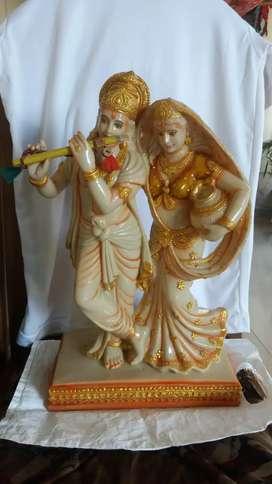 Brand new Radha krishna murti fibre material