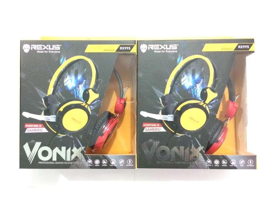 N E W  Rexus Gaming Headset Vonix RX 995 untuk PC/Laptop/Smartphone
