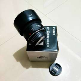 Canon EFS 50mm F1.8 STM Like new