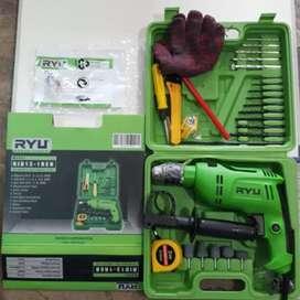 BOR RYU SET 13mm - Mesin Bor Tangan Hand Drill Black Decker - RID13REB