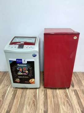 Lg 119w A one Single door fridge & Redd whirlpool top load machine