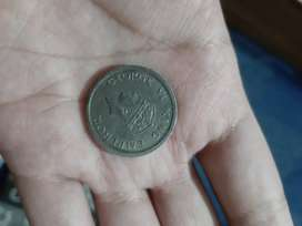 GEORGE VI KING EMPEROR 1947 ONE RUPEE COIN