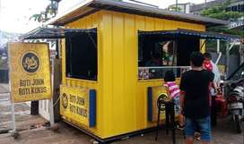 Booth container besar untuk angkringan,kafe,kedai dll