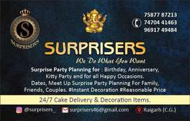 Surprisers- Party Planning and Event Management.