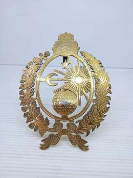 Emblem besi warna gold antik 12cmx9cm