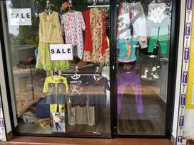 Front glass of shop