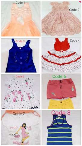 12 piece Assorted (can buy 1)trendy Kids Girl 3 to 4 years party dress