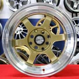 TOKYO RIFU 483 HSR Ring.15 Lebar.7-8 PCD.4X100-4X114,3 ET.33-20 GOLDML