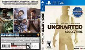 ps4 uncharted 1.2.3 games collection new dvd