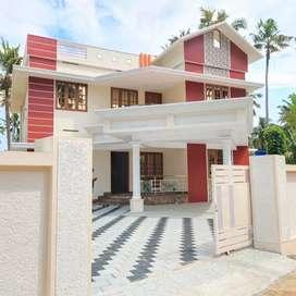 4 BHK HOUSE RED BRICKS MANNANTHALA KERALADITHYAPURAM