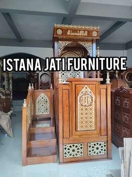 Free ongkir mimbar masjid minimalis model tangga
