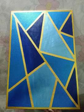 Abstract canvas painting 22×15