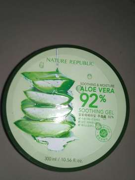 Jual skin care lidah buaya/Aloe Vera NATURE REPUBLIC.. Made in Korea