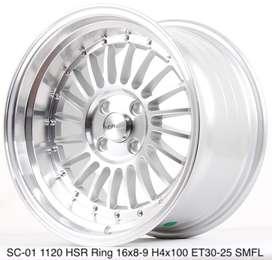 all new SC-01 1120 HSR R16X8/9 H4x100 ET30/25 SMFL