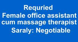 Office assistant cum massage therapist