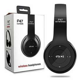 Wireless Head phone P47 ( 5 hours battery timing )