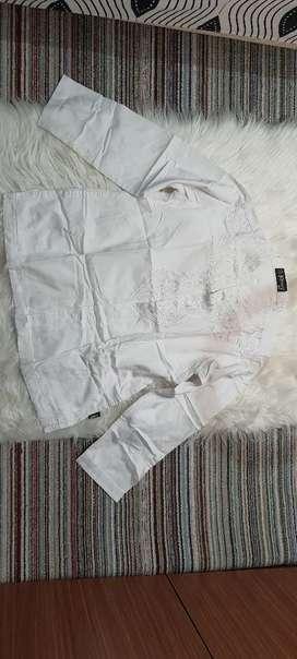 Jual baju koko/baju muslim pria warna putih