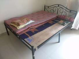 Wrought iron bed 5x6.5 feet for sale