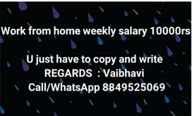 Part time job available here weekly 10000rs
