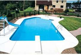 Rcc pool 20x35x5 with tile and filter.