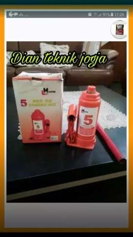 (Dian teknik buka smp Mlm) Dongkrak hidraulik botol 5 ton