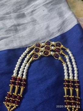 Muthyala Necklace by hand made and not used