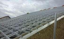 Baja ringan, plafon PVC, gypsum dan alumunium