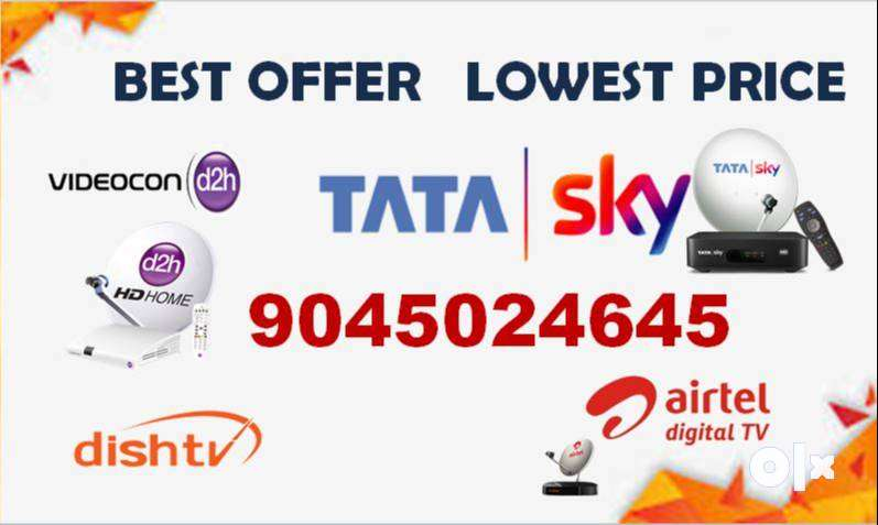 TATASKY, VIDEOCON D2H, AIRTEL, DISHTV ALL DTH CONNECTIONS BEST OFFERS 0