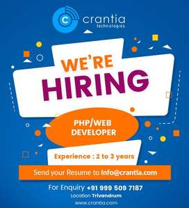 Web Developer (PHP) 2+Years