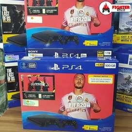 PS4 SLIM GARANSI RESMI +FIFA 20 +2STICK